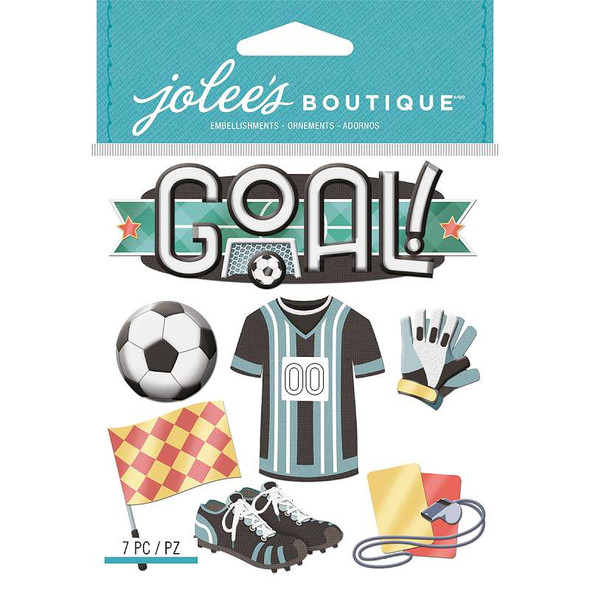 Jolee's Boutique Dimensional Stickers Soccer
