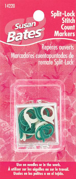 Split Lock Stitch Markers 2 Sizes 15/Pkg