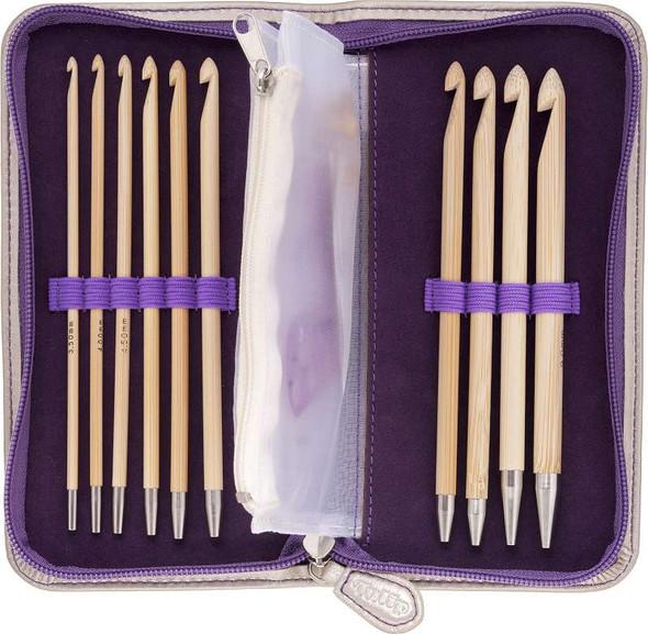 Tulip Carry T Interchangeable Bamboo Tunisian Hook Set W/Case