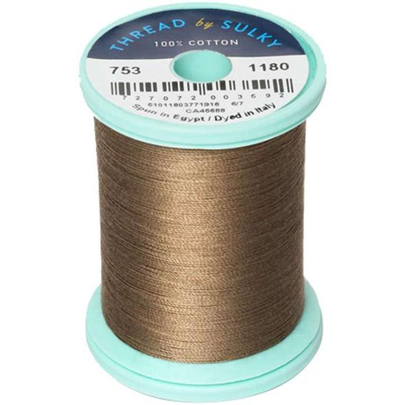 Sulky Cotton & Steel Thread 50wt 660yd Medium Taupe