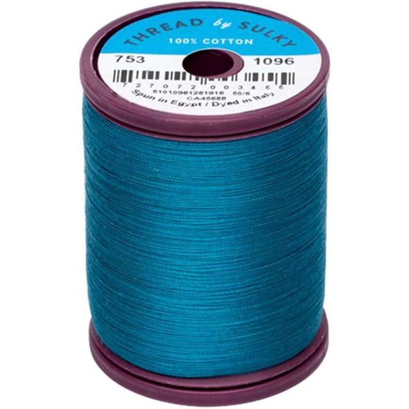 Sulky Cotton & Steel Thread 50wt 660yd Dark Turquoise