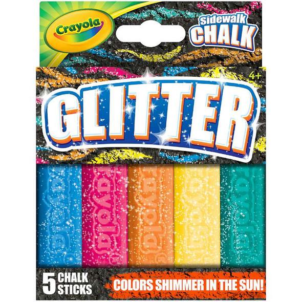 Crayola Special FX Glitter Sidewalk Chalk 5/Pkg