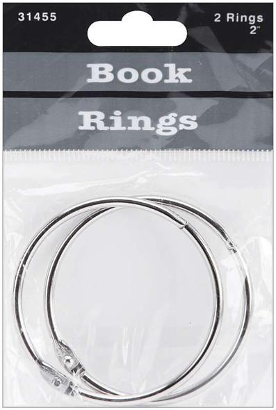 "Book Rings 2"" 2/Pkg Silver"