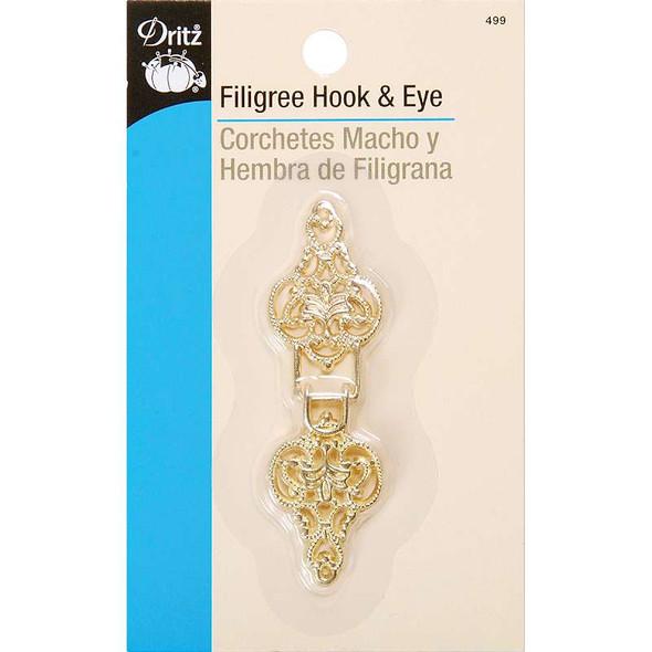 Filigree Hook & Eye Clasp Gold