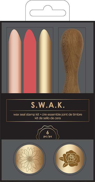 American Crafts S.W.A.K. Wax Seal Kit 6/Pkg Sunflower/Rose