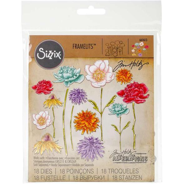 Sizzix Framelits Dies By Tim Holtz Flower Garden & Mini Bouquet