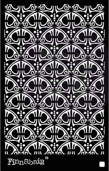 """Finnabair Stencil 6""""X9"""" Swirly Florals"""