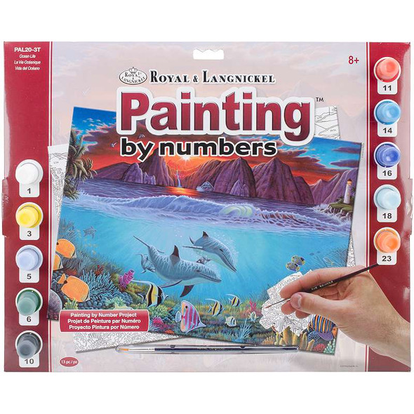 """Paint By Number Kit 15.375""""X11.25"""" Ocean Life"""
