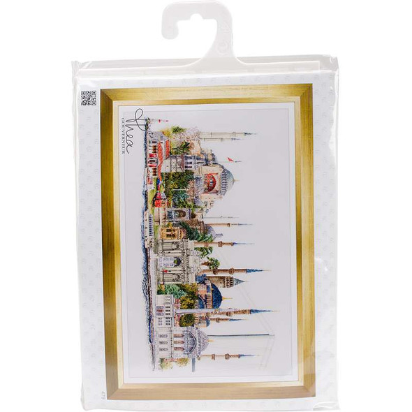 """Istanbul On Aida Counted Cross Stitch Kit 31""""X19.5"""" 18 Count"""