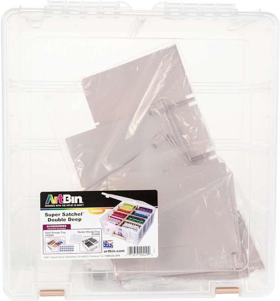 Artbin Super Satchel Double Deep W/Removable Dividers Rose Gold Handle, Latch & Dividers