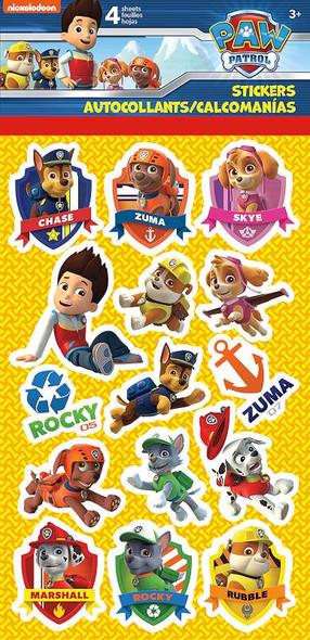 Paw Patrol Standard Stickers 4/Pkg
