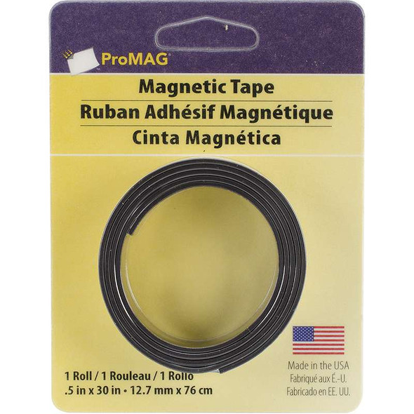 """ProMag Adhesive Magnetic Tape .5""""X30"""""""