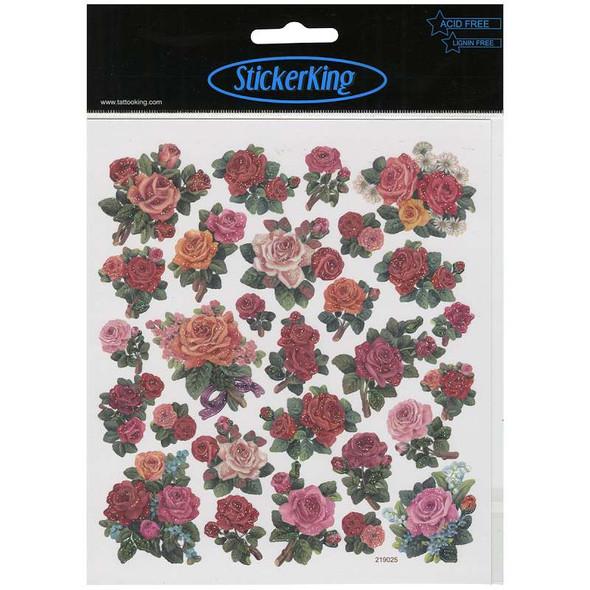 Multicolored Stickers Classic Roses
