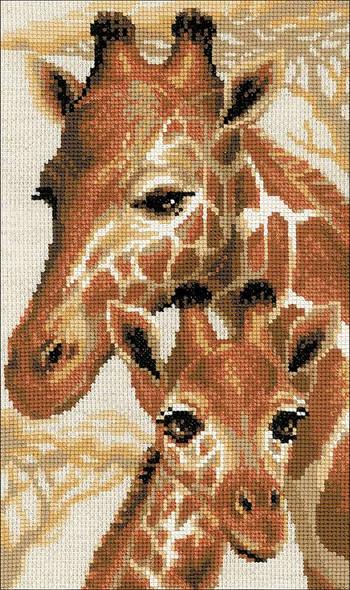 "RIOLIS Counted Cross Stitch Kit 8.75""X15"" Giraffe (10 Count)"