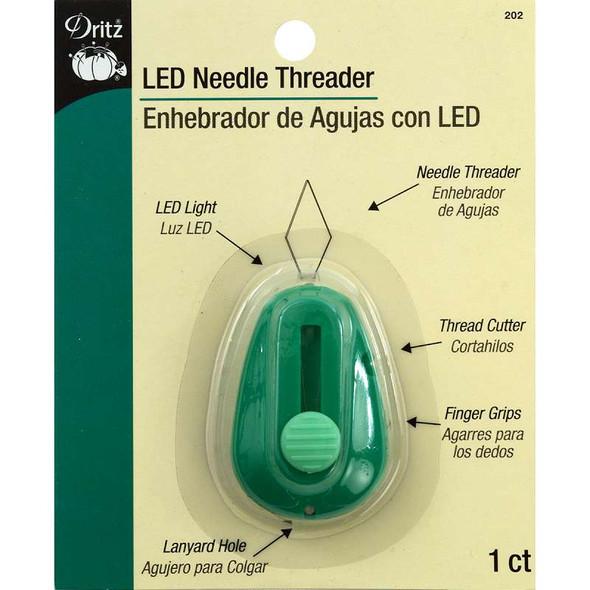 LED Lighted Needle Threader Green