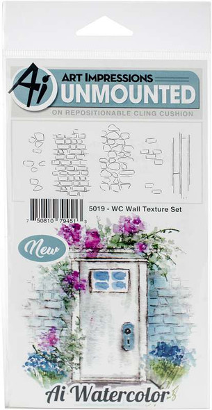 Art Impressions Watercolor Cling Rubber Stamps  Wall Texture