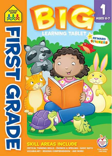 Big Learning Workbook Tablets Big First Grade Learning