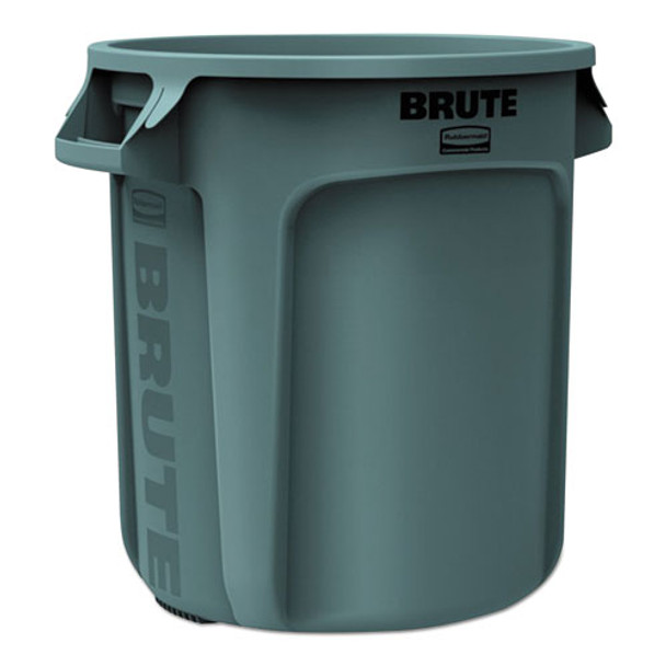 Rubbermaid Commercial Vented Round Brute Container - RCP2610GRA