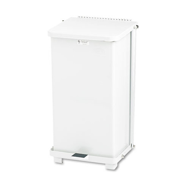 Rubbermaid Commercial Defenders Heavy-Duty Steel Step Can - RCPST12EPLWH