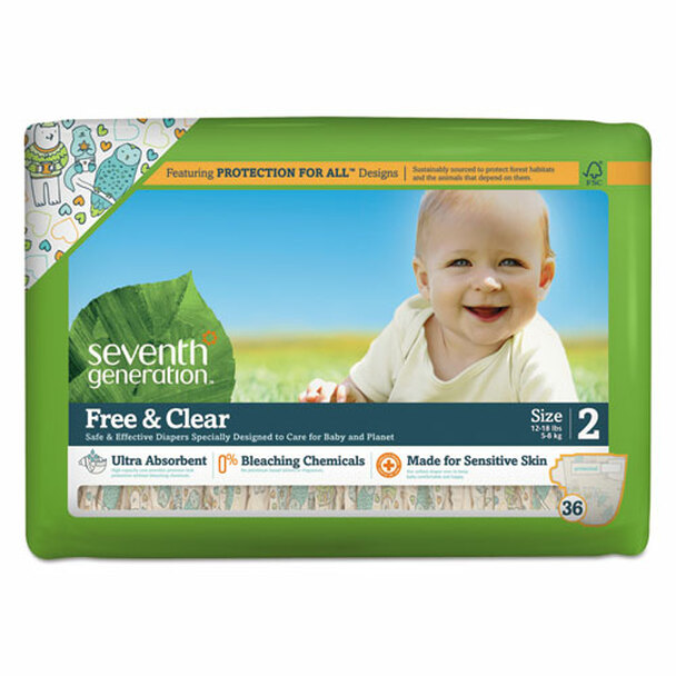 Seventh Generation Free & Clear Baby Diapers