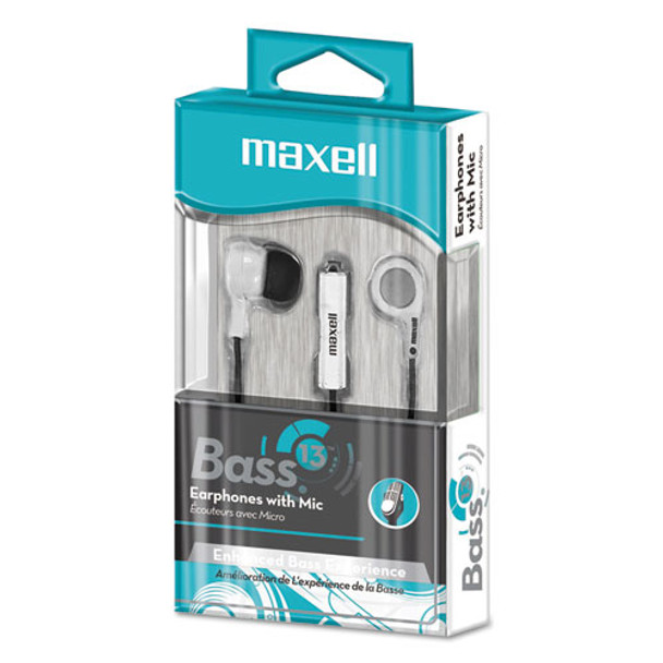 Maxell B-13 Bass Earbuds with Microphone