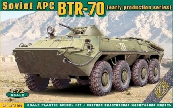 Ace Military Model Kit - Russian BTR-70 Soviet Armored Personnel Carrier,