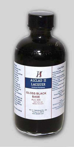Alclad II Lacquers Alclad Gloss Black Base 4oz
