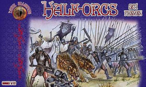 Half Orcs Set #1 -- Plastic Model Fantasy Figure -- 1/72 Scale -- #72015