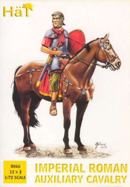 12 Imperial Roman Auxiliary Cavalry Plastic Soldiers 8066