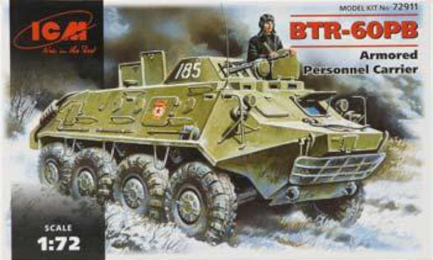 BTR60PB Armored Personnel Carrier -- Plastic Model Personnel Carrier Kit -- 1/72 Scale -- #72911