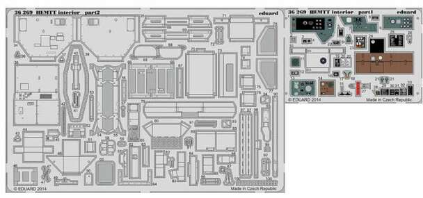 1/35 Armor- HEMTT Interior for ITA (Painted)