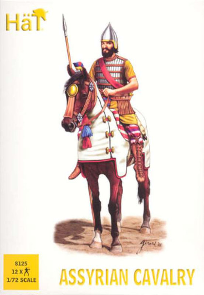 Hat 12 Assyrian Cavalry Plastic Soldiers 8125