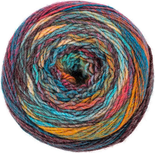 Red Heart Yarn Roll With It Melange Show Time