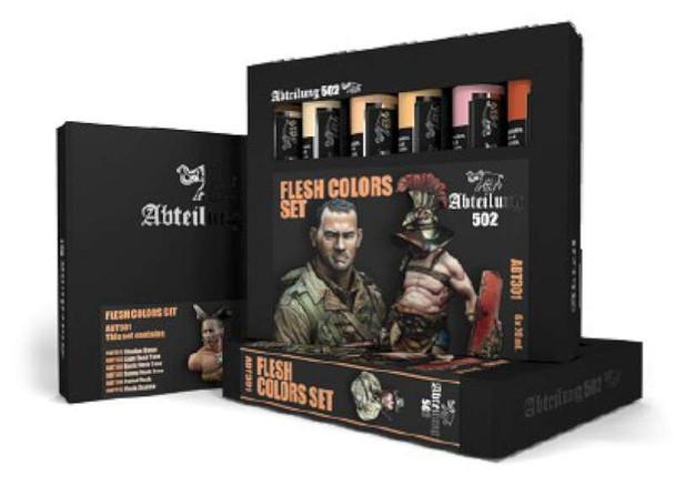 Flesh Weathering Oil Paint Set (6 Colors) 20ml Tubes