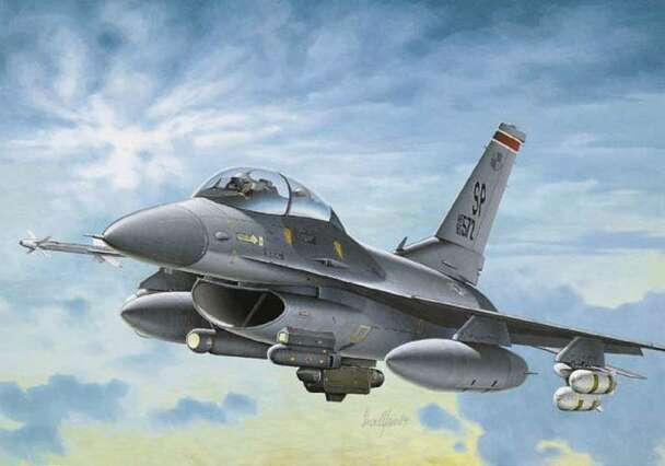 F-16C/D Night Falcon, 1/72 by Italeri, Model Airplane