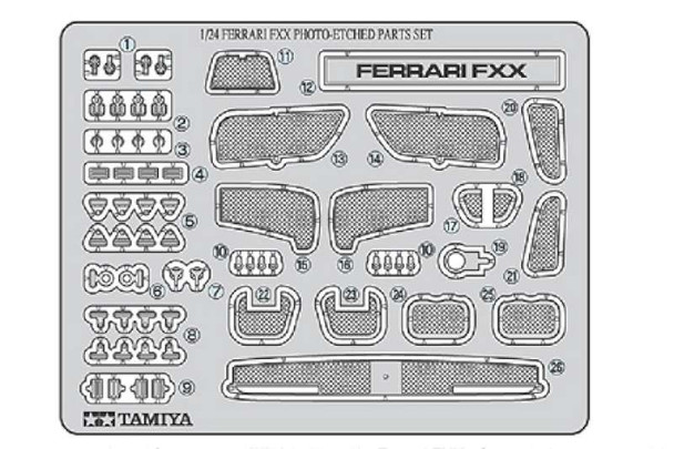 Tamiya - 12616 1/24 Photo Etch Parts Set Ferrari FXX