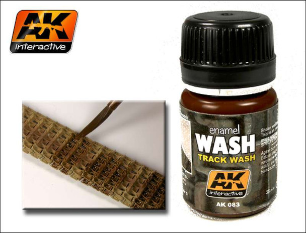 AK Interactive Track Wash Enamel Paint 35ml Bottle -- Hobby and