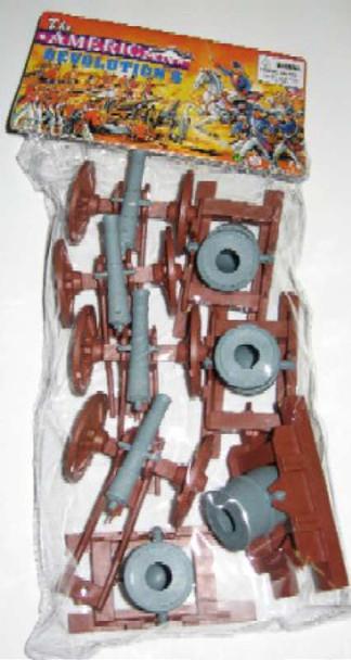 BMC 98567 American Revolutionary War Cannons & Mortars Bagged Plastic Toy Set