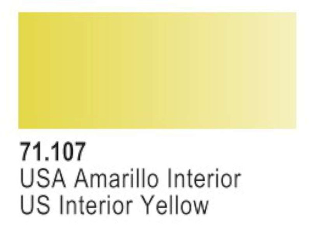 US Interior Yellow, 17ml by Vallejo, Model Paint