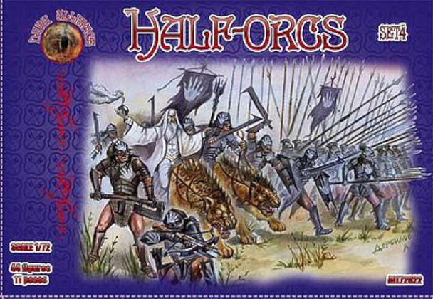 Half Orcs Set #4 (44) -- Plastic Model Fantasy Figure -- 1/72 Scale -- #72022