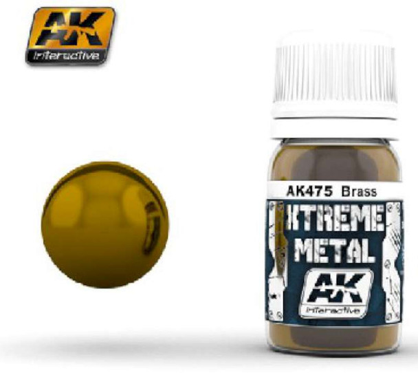 AK Interactive Xtreme Metal Brass Metallic Paint -- Hobby and Model