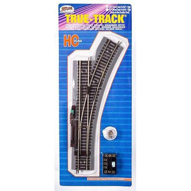 Atlas 481 HO Code 83 Remote Switch Right True Track