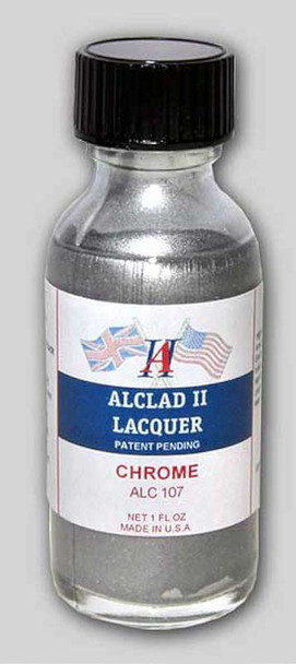 Alclad II Lacquers Chrome 1oz (For Plastic Kits) - ALC107