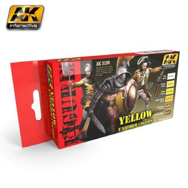 Figure Series: Yellow Uniform Colors Acrylic Paint Set (6 Colors) 17ml Bottles