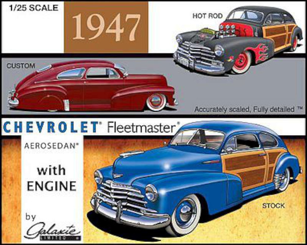 1947 Chevrolet Aerosedan Country Club -- Plastic Model Car Kit -- 1/25 Scale -- #13012