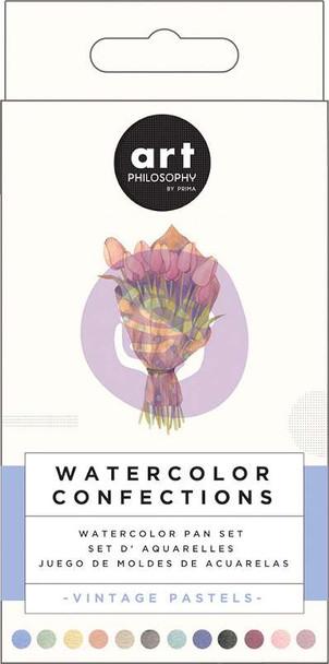 Prima Watercolor Confections Watercolor Pans 12/Pkg Vintage Pastel