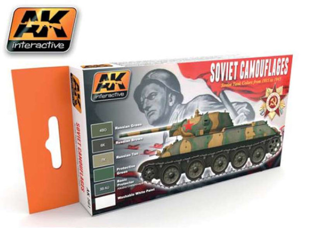 AK Interactive Soviet Camouflage Acrylic Paint -- Hobby and Model
