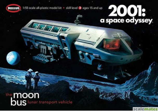 """1/50 2001 Space Odyssey: Moon Bus (Approx. 9"""" Long) (Re-Issue)"""