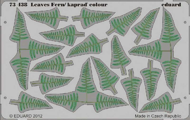 Leaves Fern / kaprad Colour- 1:72 -Eduard