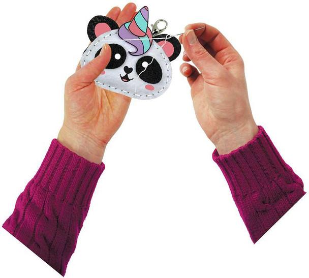 Sew Cute! Felt Backpack Clip Kit Pandicorn